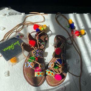 Sam Edelman Pom Beaded Sandals